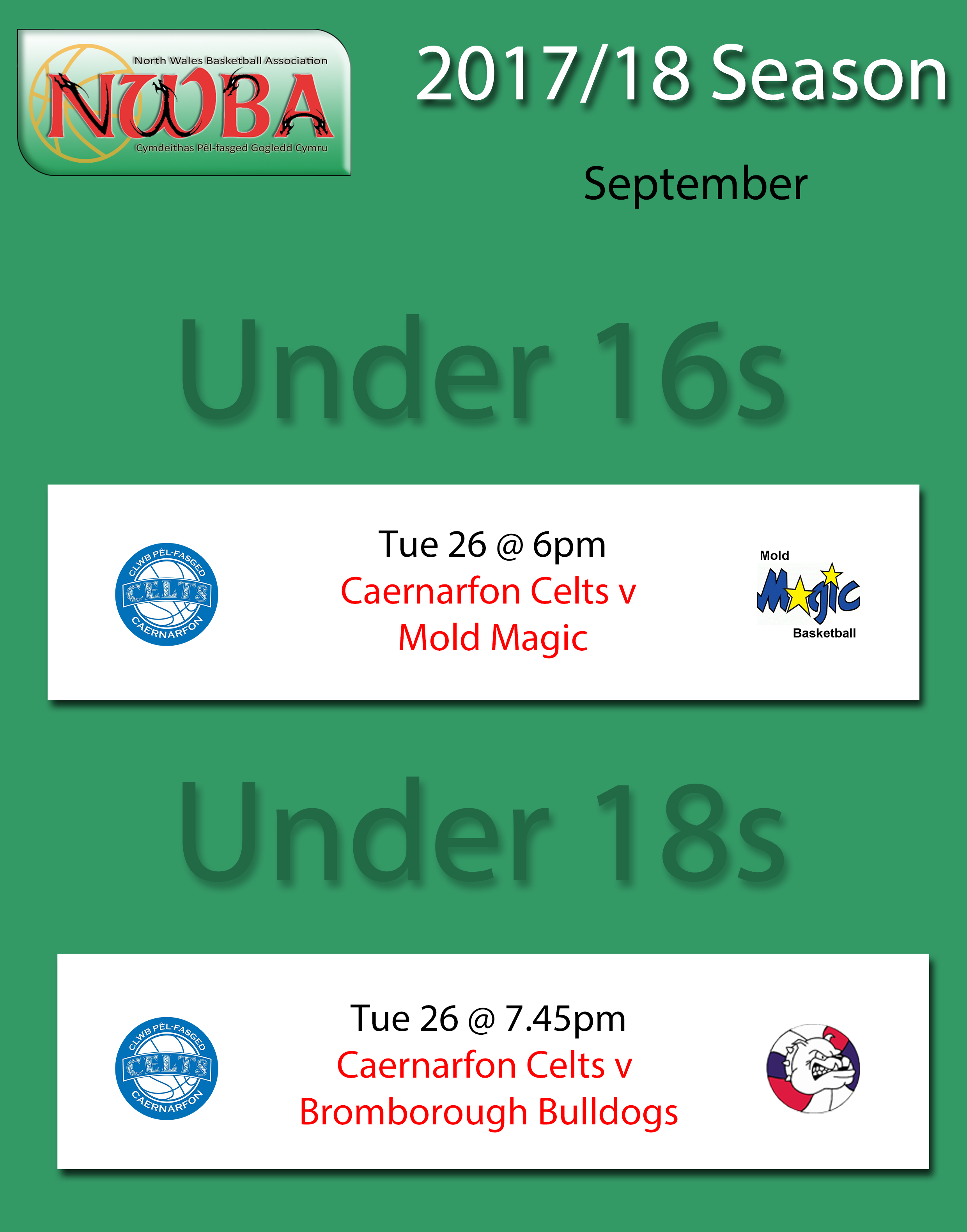 Junior Fixtures Sept 17